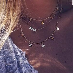 Jewelry - Boutique | Gold Star Love Layered Necklace